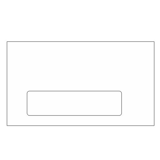 [Image: 3 5/8 x 6 1/2 Custom Printed Envelopes | #6 3/4 Standard Window Tint Envelope]