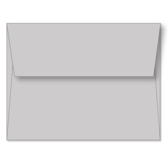 [Image: Gray Linen Announcement Envelope A2 (4 3/8 x 5 3/4) - Custom Printed]