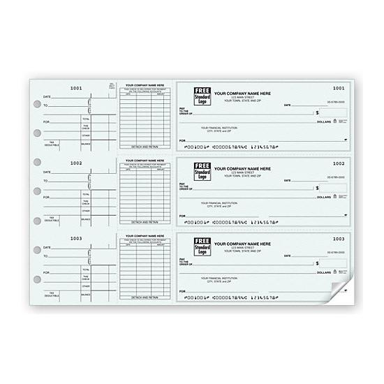 [Image: 3-On-A-Page End-Stub Voucher Check 53224N]