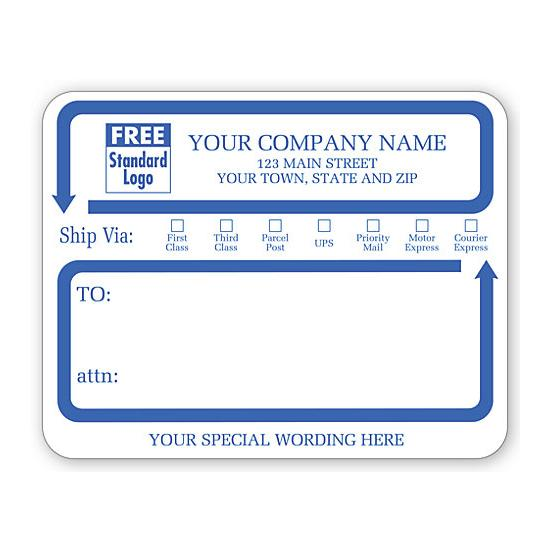 "[Image: Jumbo Mailing Labels with ""Ship Via"" Check Boxes, Padded]"