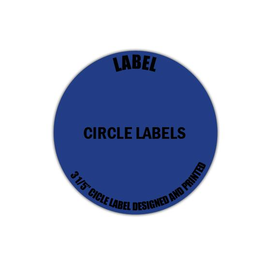 "[Image: 3 1/5"" Circle Label - Personalized & Custom Printed]"