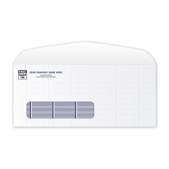 [Image: Secure Blue Tint #10 Single Window Envelope]